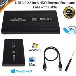 Descuento una caja portadiscos disco Venta al por mayor de alta calidad a estrenar HDD SSD 2.5inch USB 3.0 unidad de disco duro Carcasa Caddy SATA
