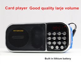 Mini Portable Rechargeable Stereo MP3 Music Player speaker led screen and FM Radio