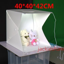 Promotion photo boîte de tente 400mm Photo Studio Flash Diffuseurs Portable Mini Photographie Kit Boîte à lumière Softbox Photographique avec Backdrops photo lumière tente film studio