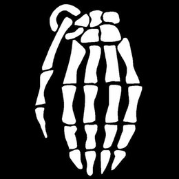 Skeleton Hand Grenade Vinyl Decal Car Truck Window Sticker JDM Funny Cool Army