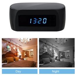 Acheter en ligne Ip ios came-HD 1080P Horloge WIFI Hidden Camera Nanny Cam Wireless P2P IP Caméras de sécurité Night Vision Video Recorder Support IOS / Android PC iPad