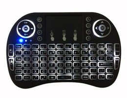 Wholesale Rii I8 Air Mouse Wireless Handheld Keyboard Mini I8 GHz Touchpad Remote Control For MX CS918 MXIII M8 TV BOX Game Play Tablet Mini PC