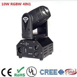 Vente en gros-CREE 10W RGBW 4in1 tête mobile DMX512 faisceau lumineux Spot LED Show Disco DJ Laser Light à partir de rgbw conduit faisceau mobile de la tête fabricateur