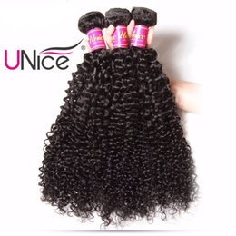 UNice Hair Curly Wave Brazilian Human Hair Bundles 1Piece 8-26inch Natural Color Non Remy 100% Human Hair Extensions