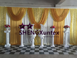 Facotory Price Wedding Backdrop Curtain \ Stage Background Free Shipping
