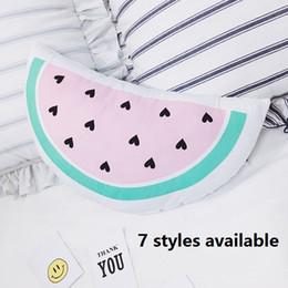 Crème glacée animale en Ligne-Grossiste- 7 styles enfants oreiller jouets glaçage de la crème glacée dents de dents gouttes d'eau oreiller peluche animal jouet oreiller décoratif pour la chambre de bébé