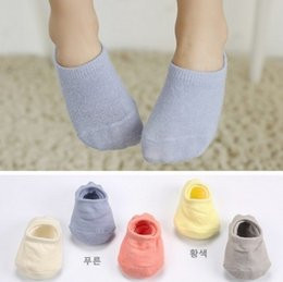 2017 garçons chaussettes d'été Style coréen 5 couleurs Bébés garçons filles de bonne qualité respirant Chaussettes Printemps Eté Cheville Chaussettes Enfants Pure Chaussettes Coton Q0885 garçons chaussettes d'été à vendre