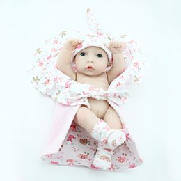 28cm Imitation Reborn Baby Girl Doll Realistic Soft Silicone Vinyl Newborn Baby Child Kids Birthday Toy Gift