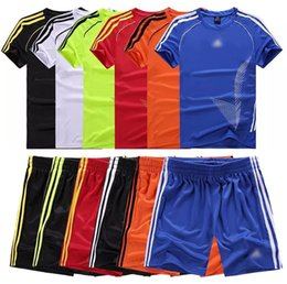 2017 maillots de sport 2017 costume de football pour enfants costume adulte short manches sport football vêtements jeunes jersey de football jersey nom kits maillots de sport autorisation