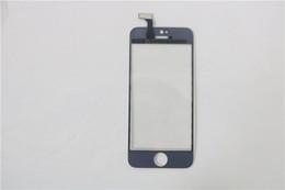 2017 plaque d'écran Plaque de recouvrement TP Pour Apple iPhone5 noir blanc Lunette de verre avant + Touch Screen Digitizer Remplacement 30PCS Livraison gratuite DHL budget plaque d'écran
