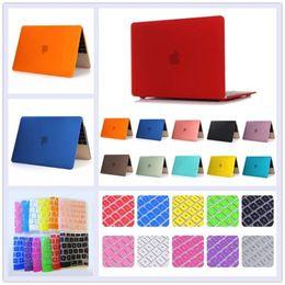 Promotion macbook shell 13 Boîtier en caoutchouc pour PC Tablet PC + Housse pour Macbook Pro 13 15 Retina 12 13 Air 11.6 13.3