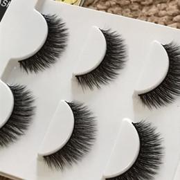 Nouveau multi-couche fil de coton noir 3D épais cils faux croix Messy faits à la main naturelles cils yeux maquillage étape faux cils 3d-30 à partir de cils de scène fabricateur