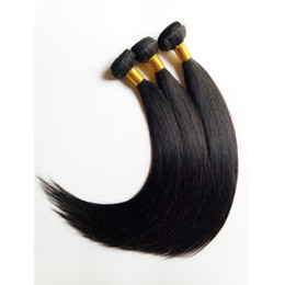 Hot sale grade wholesale unprocessed Malaysian Brazilian virgin hair extensions 8-26inch natural straight hair weft 6pcs lot DHgate