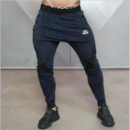 Descuento al por mayor de la ingeniería Venta al por mayor-2016 Nueva Medalla de Oro Fitness Casual Pantalones Elásticos, Stretch Cotton Pantalones para Hombre Body Engineers Jogger