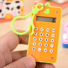 2017 Cartoon Little Duck Mini Calculatrice Bureau Fournitures Financières 8 étudiants numériques Creative Portable Arithmetic Calculator Livraison gratuite à partir de bureau de la calculatrice fabricateur