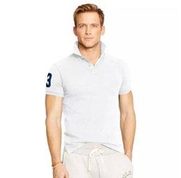 Big Size S-6XL Polyester Polo Shirt Men Big Horse Camisa Solid Short Sleeve Summer Casual Camisas Polo Mens Free Shipping