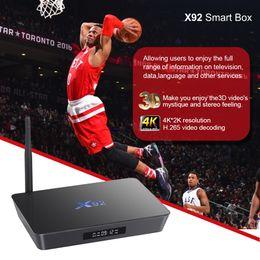 Complète android à vendre-X92 Android 6.0 TV Boîte Amlogic S912 2Go 3G 16Go Octa Core Kodi 16.1 5G Wifi Set VS KIII X96
