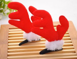 Wholesale A pair of Christmas Holiday Reindeer Antlers Pet hat costume Pet dogs and cats Christmas hair clips