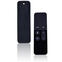 2016 silicone couvre pour les télécommandes Wholesale- Nouvelle Etui en Silicone pour Apple TV4 Télécommande de protection de manchon Generation Siri à distance, Protégez Cover Your Controller promotion silicone couvre pour les télécommandes
