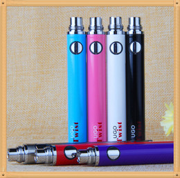 100% Original Top Quality EVOD ego C Twist 510 Battery micro USB Passthrough Charge with USB Cable vaporizer e Cigarette e cig vv Batteries