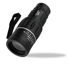 Lente de enfoque dual en Línea-2017 Ebay-Best Selling Envío de DHL 16 x 52 Zoom óptico doble Zoom óptico de la armadura Telescopio monocular AP al aire libre