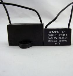 Wholesale 50pcs new brand wire vac ac motor statring capacitor uf uf uf uf uf cbb61 fan capacitor