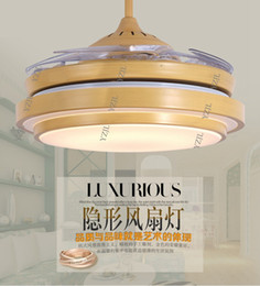 Frequency ceiling chandelier fan light 42inch LED living room bedroom fan light ceiling chandelier with remote control