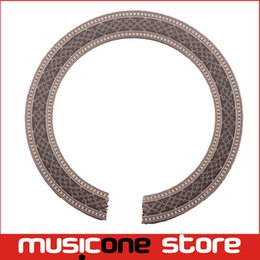 Wholesale 2Pcs Classic Guitar Wood Inlaid Soundhole Rosette Inlay Guitar Body Project Parts