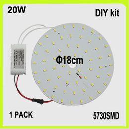 Replace 40W fluorescent tube 110v 120v DIY 20W LED circular panel led disc LED ceiling light kits surface mounted dia18cm 2 YEAR WARRANTY