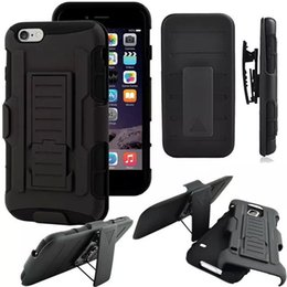 New 3 in 1 Hybrid Tough Armor Impact Rugged Holster Case for iPhone X 10 8 6S 7 plus Samsung Galaxy S6 S7 S8 Belt Clip Kickstand Back Cover
