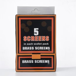Wholesale Smoking Brass Screens Screen Filters Net Screens Each Wallet Pack Standard Size Metal Pipe Sell Silver Stainless Steel Screen Filter R7