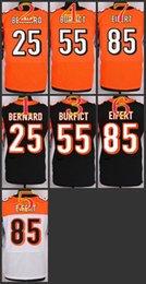 Wholesale 2017 Elite Football Stitched Bengals Bernard Vontaze Burfi Tyler Eifert Black Orange White Jerseys Mix Order
