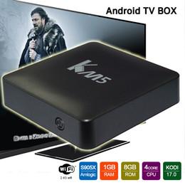 Wholesale 2017 hot Kodi pre loaded M KM5 Android TV Box Amlogic S905X GB GB K WiFi Facebook Youtube Android Smart internet box