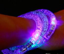 Discothèque clignotant conduit en Ligne-Bracelet LED lumineux clignotant Bracelet brillant Bracelet cristal clignotant Party Disco best Gift DHL free