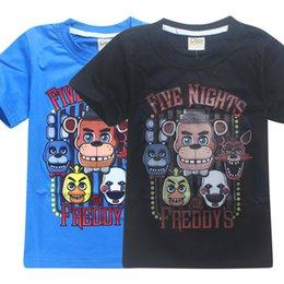 Juego cinco noches en la camiseta de Freddy FNAF Cosplay Freddy Fazbear Kids Tees Niños ropa de algodón de dibujos animados Boys Clothes Tops desde niños juegos niños fabricantes