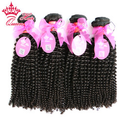 "Queen Hair cuticle intact Brazilian kinky curly virgin hair mixed length 4pcs lot 8""-30"" in stock DHL FREE SHIPPING"