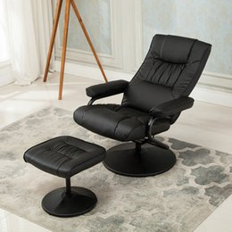 Wholesale NEW Executive Faux Leather Seat Chair Recliner Swivel Furniture with Ottoman Set