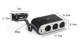 Car cigarette lighter wf-0306 3-Socket USB Car Cigarette Lighter Socket Car Splitter Adapter CarCharger for Iphon