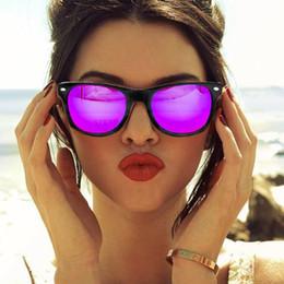 2017 gafas de sol púrpura Señora púrpura cuadrada clásica de la marca de fábrica de la lente del espejo de la Vendimia-Al por mayor Señoras Hombres Retro UV400 de las gafas de sol del diseñador económico gafas de sol púrpura
