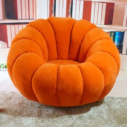 Wholesale Pumpkin Beanbag single washable fabric rotary computer chair bedroom tatami lounge chair Quality assurance Buy send a beautiful pillow