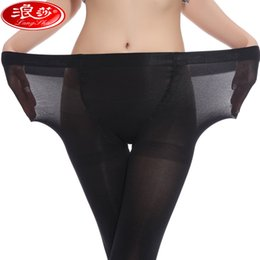 Wholesale Crotch Girl Sexy - Wholesale-Langsha 80D Pantyhose Plus Size Women Tights Girls Big Size Crotch Thicken Pantyhose Sexy Stockings 1 Pair