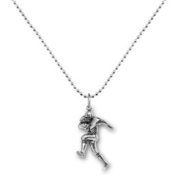 Wholesale 20pcs Antique Silver Plated Love To Run Runner Sports Fitness Pendant Necklace For Jewelry Making A121775