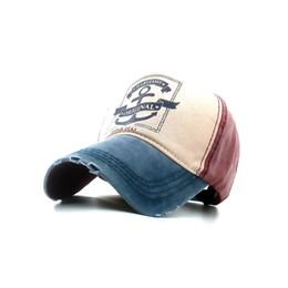 Badinka New Winte Vintage Anchor Printed Denim Baseball Cap Women Men Gorras Fitted Hip Hop Snapback Casquette Hats