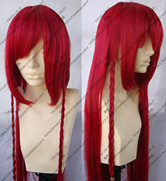 100% Brand New High Quality Fashion Picture full lace wigs> Touhou Project Hong Meirin Dark Red Cosplay Wig 100cm