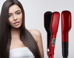 Hot Steam Comb Straightening Hair Irons Automatic Straight Hair Brush With LCD Display steam pod Electric Hair