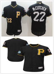 Wholesale 2017 Spring Training Gear Pittsburgh Pirates Andrew McCutchen black Elite Men Flexbase Jerseys Stitched Custom Any Name Any Number