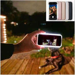 Wholesale Luminous LED Light Photographie Shiny Coque de protection contre les chocs Housse de téléphone portable pour la galaxie s5 s6 s6 bord S7 Edge