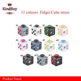 Wholesale 11 colors New novelty Fidget Cube stress relief toys for kids and adults Decompression stress ball wisdom development toy kindboy