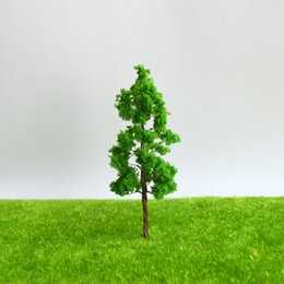 Wholesale CM DIY sand table model building materials tree green yellow wire model tree A landscape tree model specifications