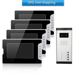 Wholesale XSL wired video door phone inch rainproof line camera and infrared night vision doorbell for apartments